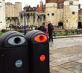 Reducing litter: recycling and non-recycling bins for your public spaces