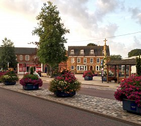 Amberol planters bring a splash of colour to historic Market Harborough