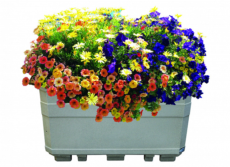 Creating blooming borders and boundaries with the flexible self-watering Parade Planter