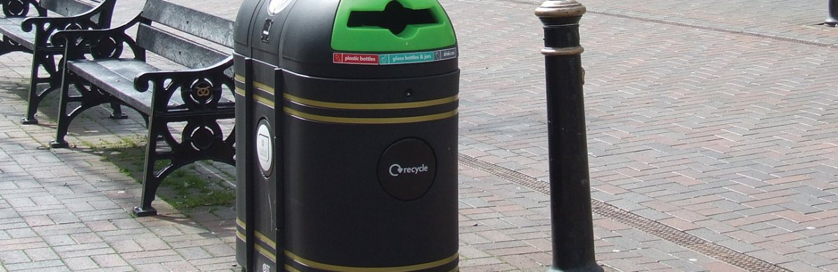Olympic Dual Outdoor Recycling Bin